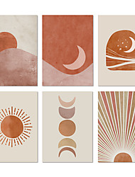 cheap -Wall Art Canvas Poster Painting Artwork Picture Abstract Sun Mount Moon Landscape Home Decoration Décor Rolled Canvas No Frame Unframed Unstretched