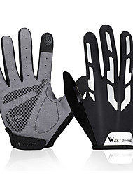 cheap -Bike Gloves / Cycling Gloves Touch Gloves Reflective Wearable Breathable Skidproof Full Finger Gloves Sports Gloves Lycra Black for Adults' Outdoor Exercise Cycling / Bike