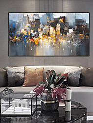 cheap -Wall Art Canvas Prints Painting Artwork Picture Abstract Urban Landscape Skyline Home Decoration Décor Rolled Canvas No Frame Unframed Unstretched