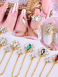 cheap -6 Pcs/set Nail Art Zircon Jewelry Angel Wing Chain Rhinestone Jewelry Super Flash High-end Luxury Colored Diamonds