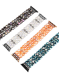 cheap -Smart Watch Band for Apple iWatch 1 pcs Jewelry Design Elastic Beaded Replacement  Wrist Strap for Apple Watch Series SE / 6/5/4/3/2/1