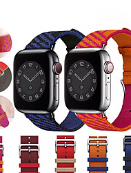 cheap -Smart Watch Band for Apple iWatch 1 pcs Jewelry Design Weave Bracelet Zinc alloy Replacement  Wrist Strap for Apple Watch Series SE / 6/5/4/3/2/1 44mm