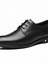 cheap -Men's Oxfords Formal Shoes Dress Shoes Derby Shoes Business Classic Wedding Office & Career Nappa Leather Handmade Non-slipping Wear Proof Black Brown Fall Winter