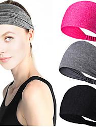 cheap -5 Pcs/set Sweat Guide Band Fashion Sports Headband Women's Fitness Sweat Absorption Wide Edge Headband Anti Slip Yoga Running Headband