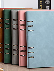 cheap -Agenda Diary Personal Organizer PU Leather Cover Loose-leaf Notebook Replaceable Paper Traveler Notepad Stationery Supplies-yx2-yyn