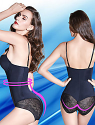 cheap -Popular Shapewear Breast Support Hip Underwear Sexy Lace Embroidery Body Shaping Bodysuit