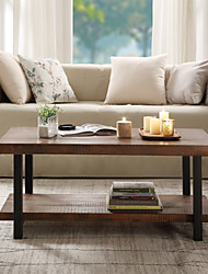 cheap -Modern Coffee Table,Idustrial Coffee Table Solid Wood  MDF and Iron Frame with Open Shelf Natural Living Room Furniture