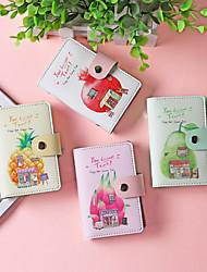 cheap -Fashion cartoon fruit card bag PU leather coin purse credit pocket card holder wallet