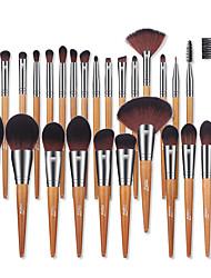 cheap -MSQ 28pcs Makeup Brushes Set Pro Powder Blusher Foundation Eye Shadow Makeup Brushes Cosmetic Brush Kit With PU Leather Case
