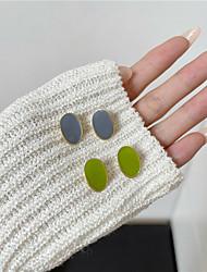 cheap -s925 silver needle korea small fresh and simple small avocado earrings female 2021 new sweet girl earrings