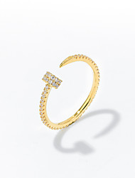 cheap -small design sense nail ring cold wind light luxury index finger ring imitation big brand adjustable opening ring temperament tail ring