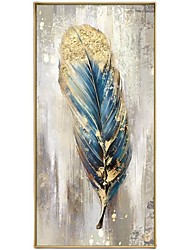 cheap -Oil Painting Handmade Hand Painted Wall Art Classic Feather Abstract Ready to Hang Home Decoration Decor