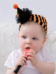 cheap -1pcs Baby Unisex Active / Sweet Halloween / Festival Striped Stripe Nylon Hair Accessories Purple / Orange Kid onesize