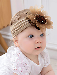 cheap -1pcs Baby Girls' Active / Sweet Daily Wear Floral / Solid Colored Floral Style Nylon Hair Accessories Blue / Blushing Pink / Gray Kid onesize