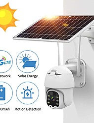 cheap -WIFI Intelligent IP Cameras with Solar Pannel 360 Degree Monitor 1080P 4G Sim Card /WiFi Solar PTZ Speed Dome Cameras Security Low Power Consumption Wireless CCTV Outdoor Security Monitor