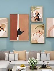cheap -Wall Art Canvas Prints Painting Artwork Picture Abstract Holiday Woman Boho Home Decoration Décor Rolled Canvas No Frame Unframed Unstretched