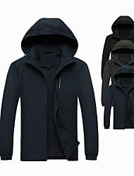 cheap -Men's Jacket Daily Work Fall Winter Short Coat Regular Fit Windproof UV Resistant Warm Quick Dry Sports Jacket Long Sleeve Plain Pocket Army Green Dark Green Black