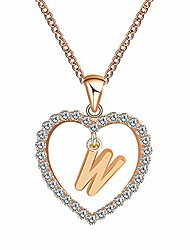 cheap -women gift fashion 26 english letter name chain pendant necklaces jewelry, rhinestone golden mother's day birthday gift necklace jewelry gift
