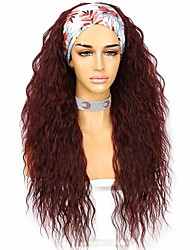 cheap -Platinum Blonde Headband Wig Long Synthetic Wig no Glue Loose Curly Hair Headband Wig Suitable For Women 26 Inches (about 66.0 cm) 130% Density Heat-resistant Cosplay Wig