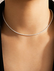 cheap -Women's Chain Necklace Necklace Classic Simple Fashion European Alloy Silver 40 cm Necklace Jewelry 1pc For Wedding Sport Gift Festival
