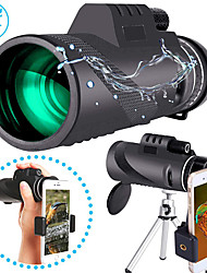 cheap -40 X 60 mm Monocular with Phone Clip and Tripod Waterproof Portable Durable Lightweight 7 m Multi-coated BAK4 Camping / Hiking Hunting Fishing / with Tripod Mount / Bird watching