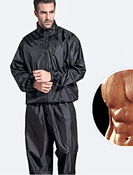 cheap -Sauna Suit Sports Spandex Lycra Polyster Yoga Fitness Gym Workout Stretchy Hot Sweat For Men