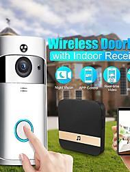 cheap -Wifi Smart Video Doorbell Intercom Smart Camera Doorbell PIR Detection Camera Night Vision Home Security Video Door Bell 1080P HD WiFi Doorbell Home Security Smartphone Remote Monitoring Alarm Door