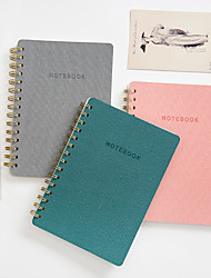cheap -Other Material Blushing Pink / Grey / Dark Green 1 PC Creative Notebooks / Notepads 14.6*20.8 cm
