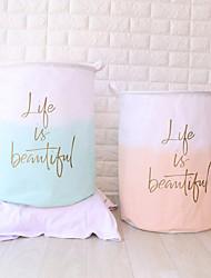 cheap -Buggy Bag Waterproof Storage Bag Household Dirty Laundry Basket Folding Clothing Storage Bucke 40*50cm