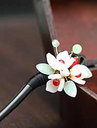 cheap -vintage fashion ebony hairpins, costumes, hanfu head ornaments, czech glass petals, hairpins, glass beads, hairpins wholesale