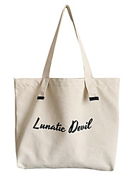 cheap -european and american style big bag ins female canvas bag simple student bag shoulder bag ulzzang big bag one generation