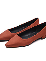 cheap -Women's Flats Flat Heel Pointed Toe Daily Office Synthetics Solid Colored Almond Burgundy