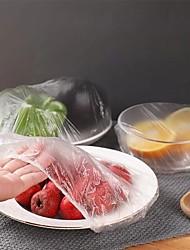 cheap -100-Piece Disposable Food Cover Plastic Wrap Elastic Food Lids for Fruit Bowls Cups Caps Storage Kitchen Fresh Keeping Saver Bag