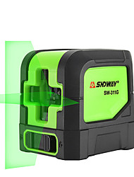 cheap -SNDWAY SW-311G Laser Level Vertical Horizonta Measuring 2 Crossing Lines Self Leveling Green Red Laser BeamLine Measuring Tool
