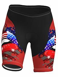 cheap -21Grams Women's Cycling Shorts Summer Spandex Bike Padded Shorts / Chamois Quick Dry Moisture Wicking Sports 3D American / USA Red Mountain Bike MTB Road Bike Cycling Clothing Apparel Bike Wear