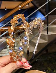 cheap -Crystal Rhinestone Simple Hair Accessories Korea's Fashion Headband Trendy Wild Headdress Women