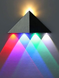 cheap -LED Wall Light Modern 5W Triangle LED Wall Sconce Light Fixture Indoor Hallway Up Down Wall Lamp Spot Light Aluminum Decorative Lighting for Theater Studio Restaurant Hotel Multi-colored AC85-265V