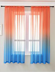 cheap -Semi Sheer Window Curtain Window Treatments 2 Panels for Kitchen Living Room Bedroom Patio Sliding Door
