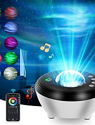 cheap -Projector Light Remote Controlled Laser Light Projector Smart App Control Party Bedroom Decor Halloween Gift Multi-colors