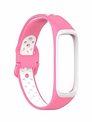 cheap -silicone two-tone strap compatible with -samsung-galaxy fit2 sm-r220 sport wristband replacement bracelet smart watch band accessory