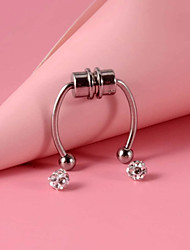 cheap -Nose Ring / Nose Stud / Nose Piercing Stylish Simple Holiday Women's Body Jewelry For Gift Masquerade Classic Stainless Steel + A Grade ABS Silver