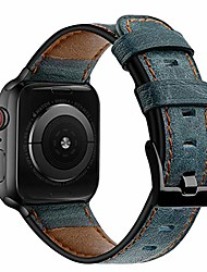 cheap -compatible with apple watch band 40mm 38mm leather for women men, vintage sport wristband metal classic buckle clasp bracelet replacement band for apple watch se/iwatch series 6/5/4/3/2/1