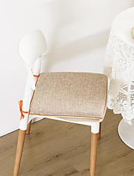 cheap -High Elasticity Cotton Linen Memory Foam Chair Cushion Prevent Slip Bandage Seat Cushion Home Office Seat Bar Dining Chair Seat Pads Garden Floor Cushion