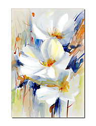 cheap -Oil Painting Handmade Hand Painted Wall Art Modern White Flowers Picture Abstract Home Decoration Decor Rolled Canvas No Frame Unstretched