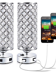 cheap -Table Lamp / Desk Lamp / Reading Light Ambient Lamps / Decorative / Dual-Head Metallic / Crystal For Living Room / Bedroom Aluminum Silver / CE Certified