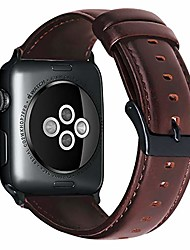 cheap -leather watch strap band compatible with apple watch 38mm 40mm 42mm 44mm stainless steel replacement loop band sport adjustable wristband belt for iwatch series se 6 5 4 3 2 1 for women men