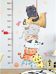 cheap -Wall stickers cat height stickers children's room baby decoration bedroom cartoon stickers self-adhesive kindergarten classroom layout Wall Stickers for bedroom living room