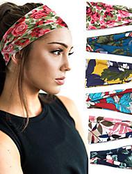 cheap -Printing Sports Headband Yoga Hair Band Sweat Band Women's Wide Edge Headband