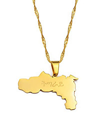 cheap -ethiopia tigray region pendant necklaces gold color/silver color african jewelry for women girls