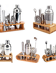 cheap -Insulated Cocktail Shaker Bartender Kit Cocktail Shaker Mixer Stainless Steel 350ml Bar Tool Set with Stylish Bamboo Stand Perfect Home Bartending Kit and Martini Cocktail Shaker Set